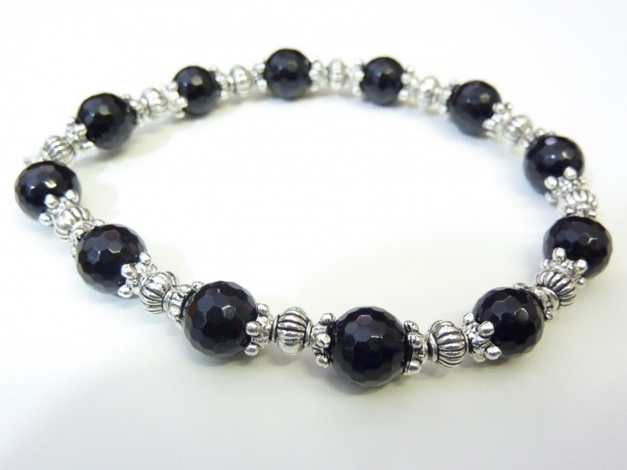 bracelet spinelle noir