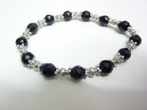 Bracelet méga protection obsidienne oeil céleste et spinelle noir