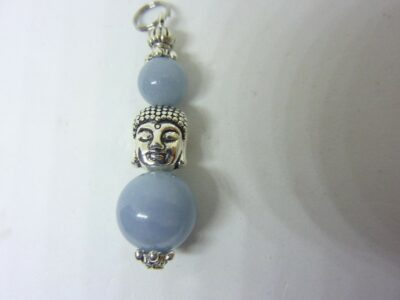 Pendentif Bouddha protection Angélite (anhydrite)