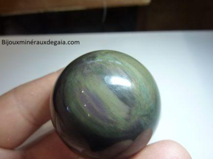 Obsidienne mentogochol variété rare d'œil céleste ref 1274