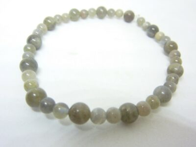 Bracelet protection : Labradorite perles rondes 6-4 mm