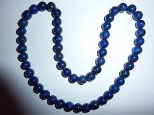 Collier lapis lazuli perles 8 mm
