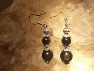 Boucles d'oreilles d'Obsidienne oeil céleste