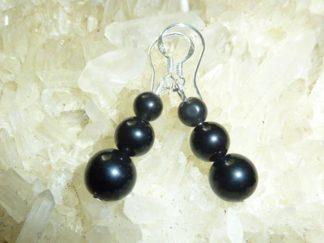 Boucles d'oreilles d'Obsidienne oeil celeste