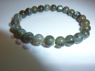 Bracelet protection en Labradorite perles rondes 8mm