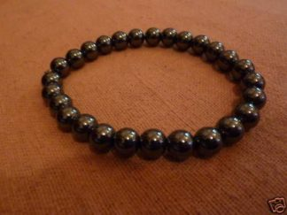 Bracelet en hématite perles rondes 8mm
