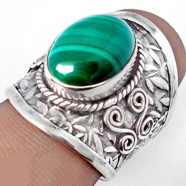 bijoux argent malachite