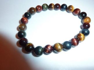 Bracelet protection : Oeil de tigre,oeil de Faucon, oeil de Taureau perles 8 mm