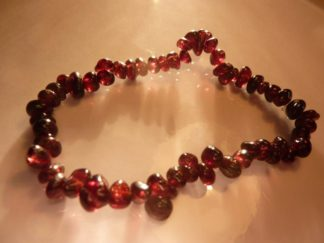 Bracelet grenat almandin perles multiformes 6-10mm