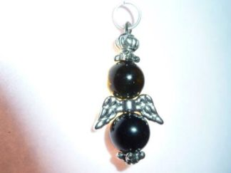Pendentif ange tourmaline noire