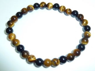 Bracelet protection extreme: Oeil de tigre,tourmaline noire