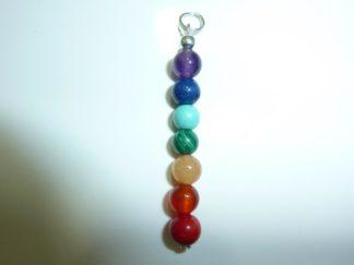 Pendentif chakras pierres naturelles perles rondes 6mm