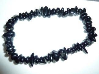 Bracelet tourmaline noire perles multiformes
