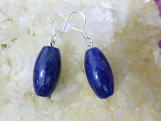 Boucles d'oreilles Lapis lazuli 2 x 1 cm