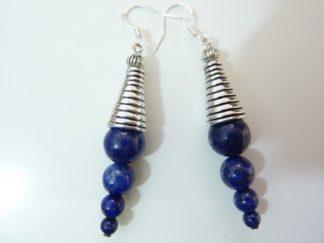 Boucles d'oreilles lapis lazuli 10-8-6-4