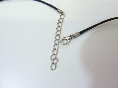 Collier cordon coton tres solide avec fermoir chaine réglable de 53 à 57 cm