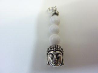 Pendentif Bouddha Jade perles 6 mm