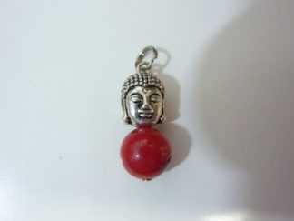 Pendentif Bouddha Corail perles 10mm