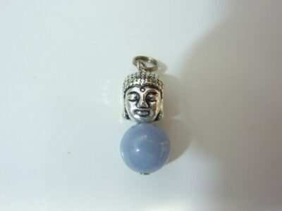 Pendentif protection Bouddha Angelite (Anhydrite)