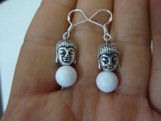 Boucles d'oreillesBouddha Jade perles 8 mm