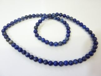 COLLIER EXTENSIBLE LAPIS LAZULI 6 MM NON TRAITÉ NON COLORÉ