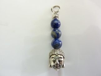 Pendentif Bouddha Lapis lazuli perles 6 mm