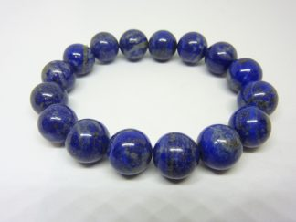 Bracelet lapis lazuli - Perles rondes 12 mm