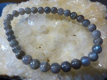 Bracelet Labradorite - perles rondes 6 mm