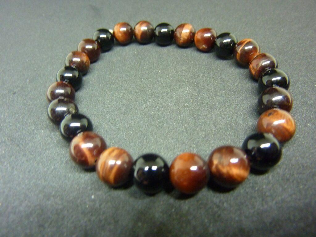 Bracelet Oeil de taureau-tourmaline noire Protection extreme