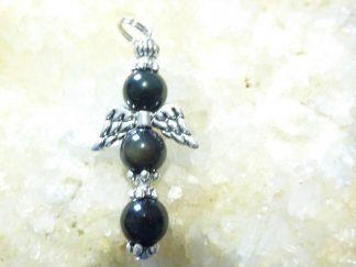 Pendentif obsidienne oeil céleste ange protecteur
