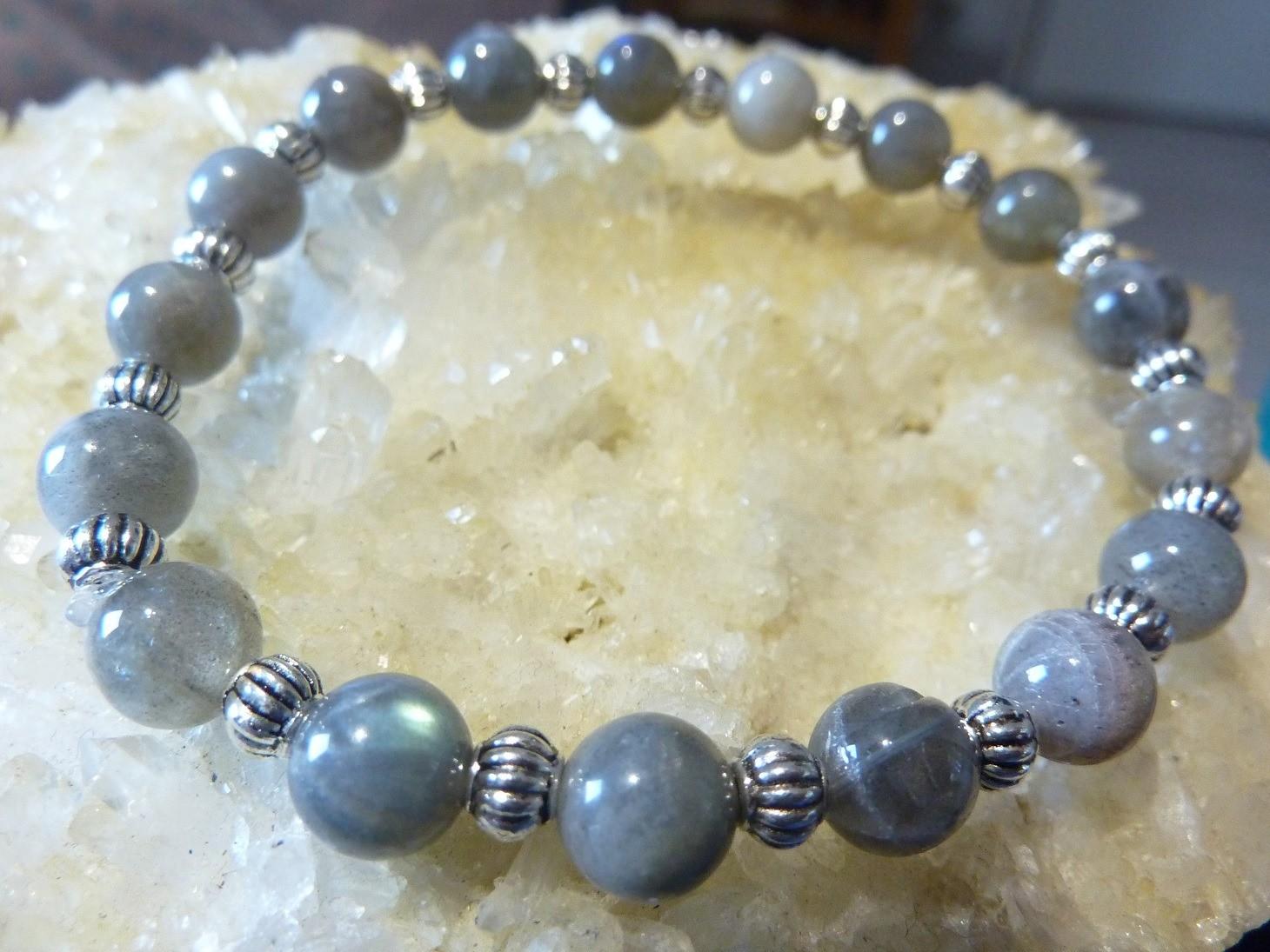 Bracelet labradorite - perles 7 mm