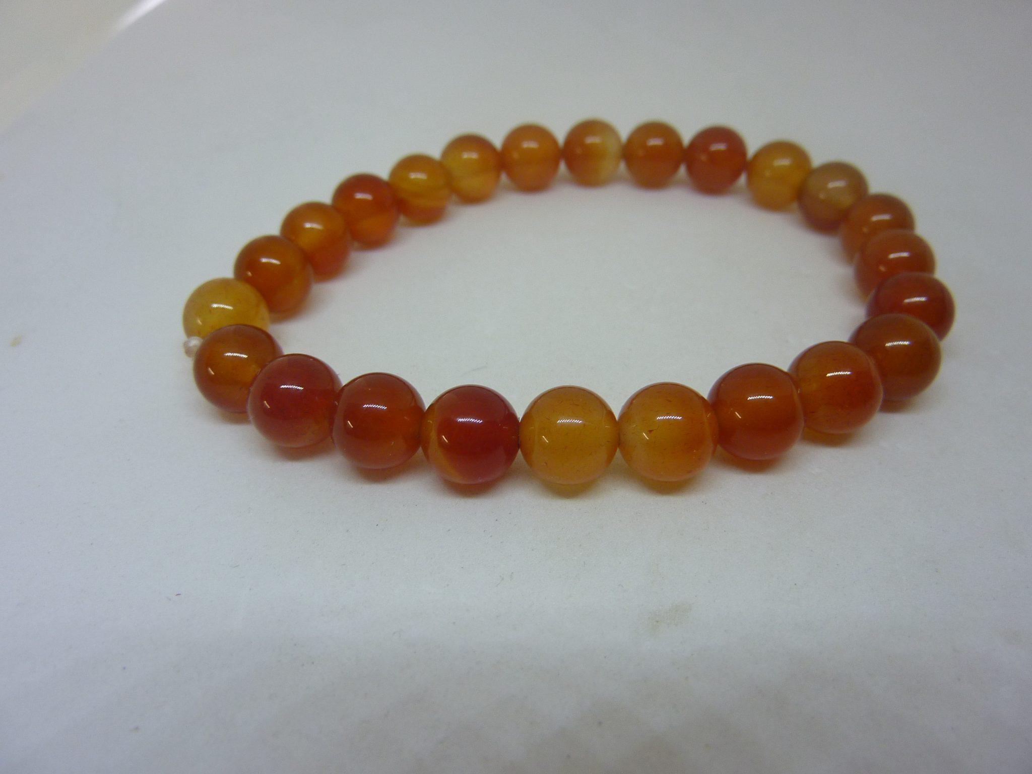 Bracelet cornaline perles rondes 8mm bijoux min raux de gaia - Tomber enceinte pendant le retour de couche ...