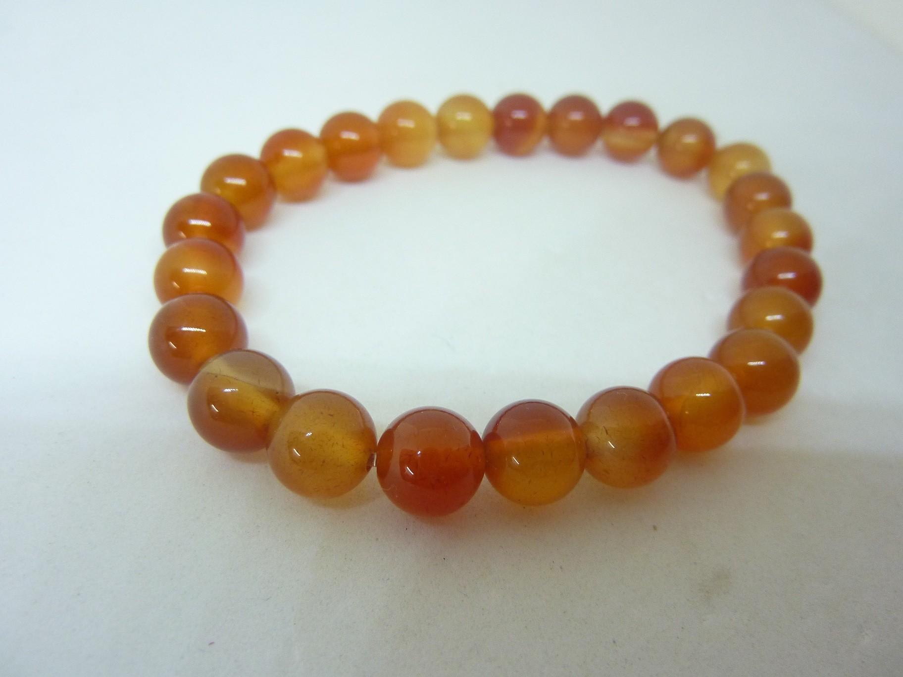 bracelet cornaline perles rondes 8mm bijoux min raux de gaia. Black Bedroom Furniture Sets. Home Design Ideas