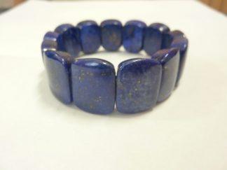 Bracelet lapis lazuli pierres taillées