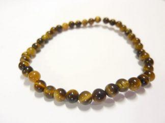 Bracelet Oeil de tigre-Perles rondes 4 mm