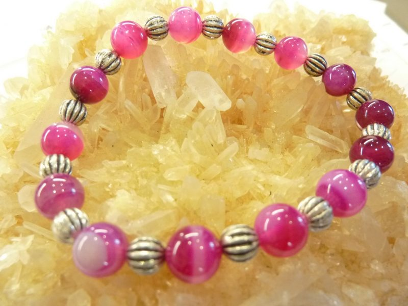 Bracelet agate rubanée