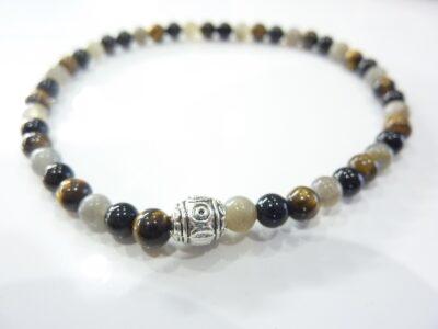 Bracelet Oeil de tigre-Labradorite-tourmaline noire protection extrème
