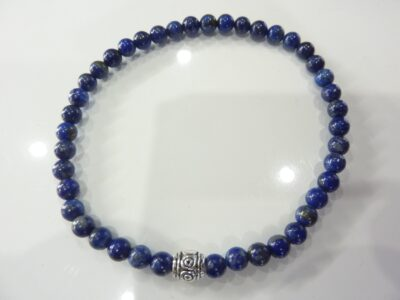 Bracelet lapis lazuli - Perles rondes 4 mm