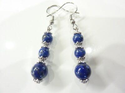 Boucles d'oreilles lapis lazuli Naturelle