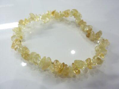 Bracelet citrine perles multiformes 6-10 mm