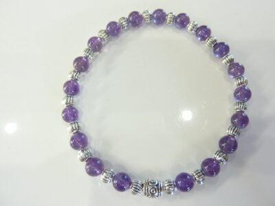 Bracelet pierres naturelles amethyste d'uruguay