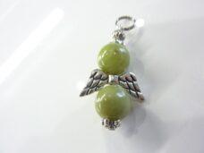 Pendentif Péridot ange perles rondes 10 mm