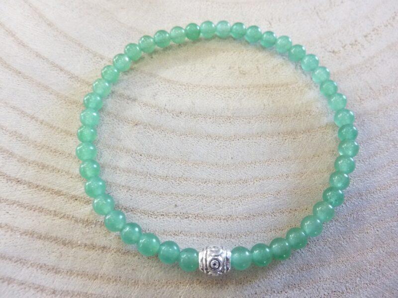 Bracelet aventurine verte perles rondes 4 mm
