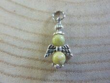 Pendentif Péridot ange - perles rondes 6 mm