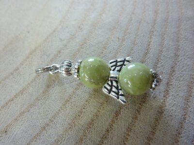 Pendentif Péridot ange - Perles rondes 8 mm