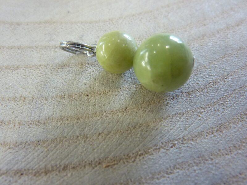 Pendentif Péridot - Perles rondes 8 et 10 mm