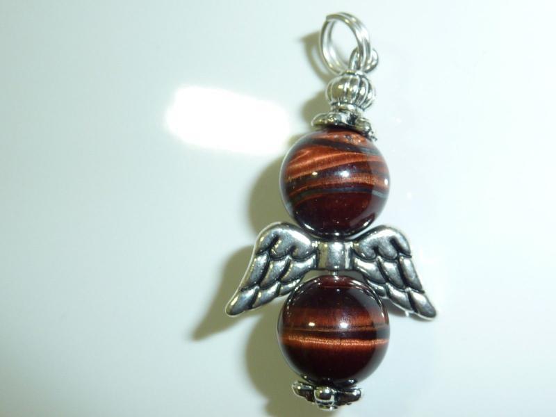 Pendentif ange Protection Oeil de taureau perles rondes 10mm