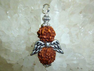 Pendentif Rudraksha Ange - perles 10 mm