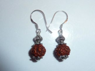 Boucles d'oreilles Rudraksha perles 8mm