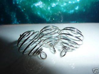 Spirale cage pour minéraux pierres naturelles 2,6 cm X 1,9 cm Extensible jusqu'a 3,2 cm